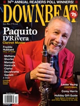 "Paquito D'Rivera – Voted ""Clarinetist of the Year"" by DownBeat Readers!"