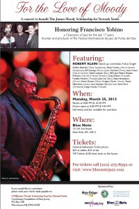 March 25, 2013 - James Moody Scholarship Benefit Concert