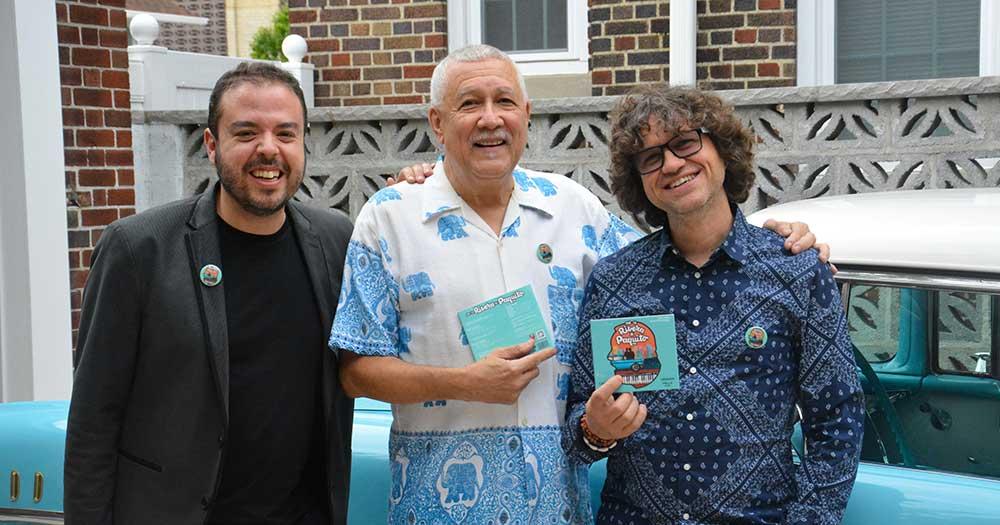 Paquito with Carlos Cano and Hernan Milla