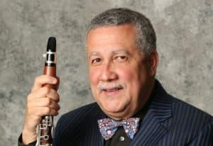 Paquito D'Rivera holding Clarinet