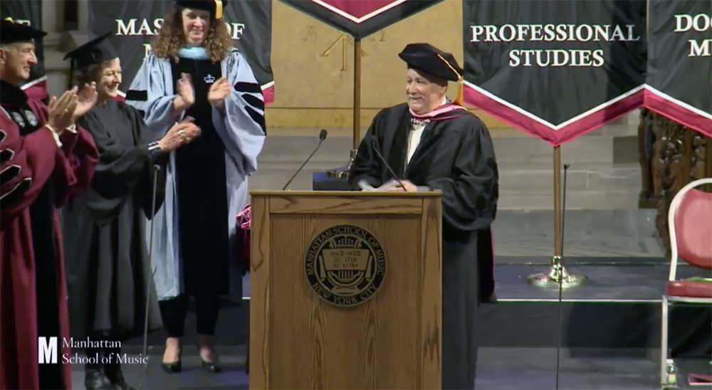 Paquito Accepting Honorary Doctor at Manhattan School of Music