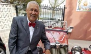 Paquito D'Rivera next to convertable