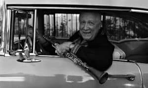 Paquito D'Rivera in Car with Clarinet