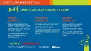 Montclair Jazz Festival Schedule